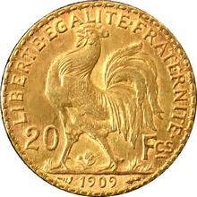 Zlatá mince 20 Frank Marianne Kohout 1909