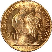 Zlatá mince 20 Frank Marianne Kohout 1910