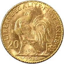 Zlatá mince 20 Frank Marianne Kohout 1913