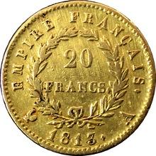 Zlatá mince 20 Frank Napoleon Bonaparte 1813