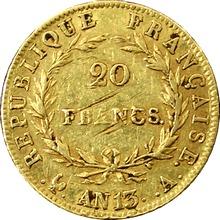 Zlatá mince 20 Frank Napoleon Bonaparte 1804