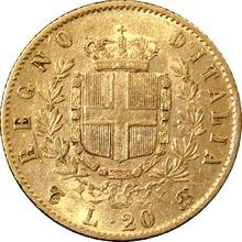 Zlatá mince 20 Lira Viktor Emanuel II. 1863