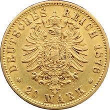 Zlatá mince 20 Marka Vilém I. Pruský 1876