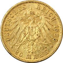 Zlatá mince 20 Marka Vilém II. Pruský 1899