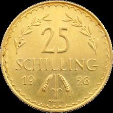 Zlatá mince 25 Šilink Rakousko 1926