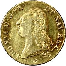 Zlatá mince 2 Louis d'Or Ludvík XVI. 1786 W
