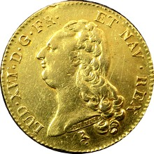 Zlatá mince 2 Louis d'Or Ludvík XVI. 1786 A