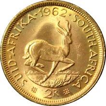 Zlatá minca 2 Rand Jan van Riebeeck 1962