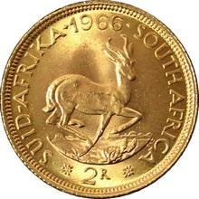 Zlatá minca 2 Rand Jan van Riebeeck 1966
