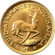 Zlatá mince 2 Rand Jan van Riebeeck 1973