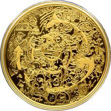 Zlatá minca 2 Oz Kanada očami Tima Barnarda 2014 Proof