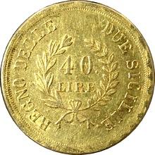 Zlatá mince 40 Lira Joachim Murat 1813
