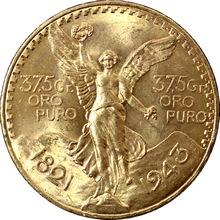 Zlatá mince 50 Peso Centenario 1943
