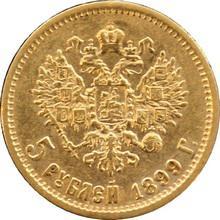 Zlatá mince 5 Rubl Mikuláš II. Alexandrovič 1899