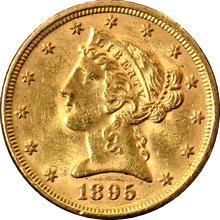 Zlatá mince 5 Dolar American Eagle Liberty Head 1895