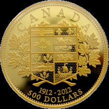 Zlatá minca 5 Oz Prvá zlatá minca Kanady 100.výročie 2012 Proof