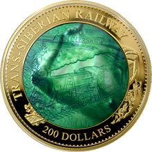Zlatá mince 5 Oz Transsibiřská magistrála 100. výročí 2016 Perleť Proof