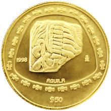 Zlatá mince Toltékové - Aguila 1/2 Oz 1998 Standard