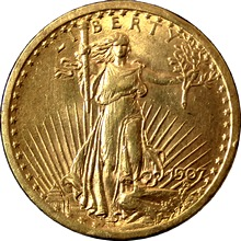Zlatá mince American Double Eagle 1907