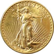 Zlatá mince American Double Eagle 1913