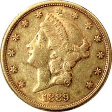 Zlatá mince American Double Eagle Liberty Head 1889