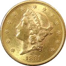 Zlatá mince American Double Eagle Liberty Head 1891