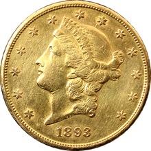Zlatá mince American Double Eagle Liberty Head 1893