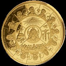 Zlatá mince 12 apoštolů 1 Kg Puzzle 2008 Proof