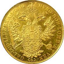 Zlatá mince 4-Dukát Františka Josefa I. 1862