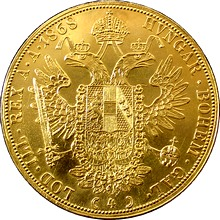 Zlatá mince 4-Dukát Františka Josefa I. 1868