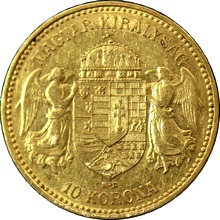 Zlatá mince Desetikoruna Františka Josefa I. Uherská ražba 1899