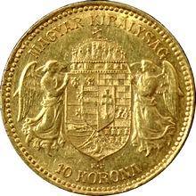 Zlatá mince Desetikoruna Františka Josefa I. Uherská ražba 1907