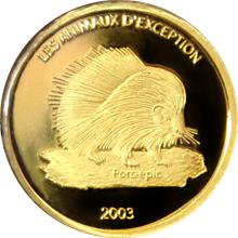 Zlatá mince Dikobraz Miniatura 2003 Proof