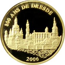 Zlatá mince Drážďany 800 let Miniatura 2006 Proof