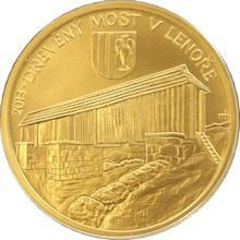 Zlatá minca 5000 Kč Drevený most v Lenoře 2013 Štandard