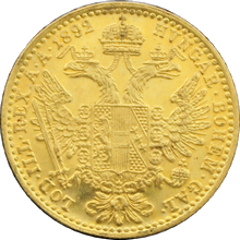 Zlatá mince Dukát Františka Josefa I. 1892