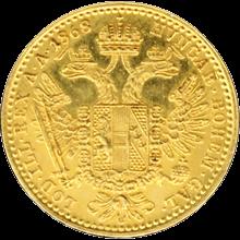 Zlatá mince Dukát Františka Josefa I. 1868