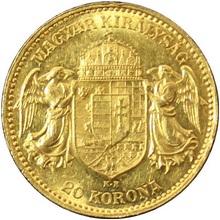 Zlatá mince Dvacetikoruna Františka Josefa I. Uherská ražba 1905