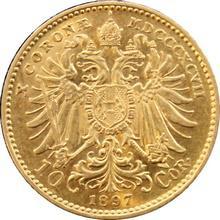 Zlatá mince Desetikoruna Františka Josefa I. Rakouská ražba 1897