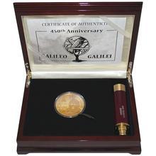 Zlatá mince 5 Oz Galileo Galilei 450. výročí 2014 Diamant Proof