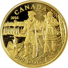 Zlatá minca Pierre Gaultier de La Vérendrye 2016 Proof