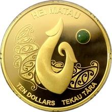 Zlatá mince Hei Matau Maori Art 1 Oz 2012 Proof