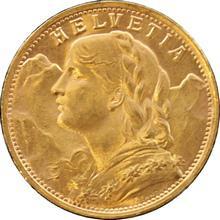 Zlatá mince 20 Frank Helvetia - Vreneli 1947