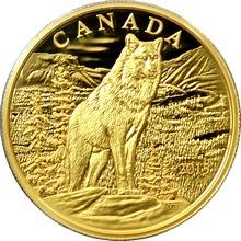 Zlatá minca Impozantná alfa vlk 2015 Proof (.99999)
