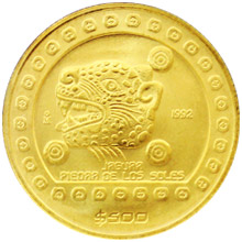 Zlatá mince Aztékové - Jaguar 1/2 Oz 1992 Standard
