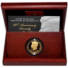 Zlatá mince Kennedy Half-Dollar 50. výročí 2014 Proof
