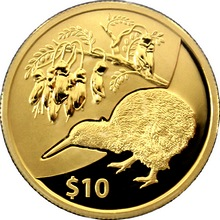 Zlatá mince Kiwi Treasures Kowhai 1/4 Oz 2012 Proof