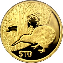 Zlatá mince Kiwi Treasures Tane Mahuta 1/4 Oz 2013 Proof