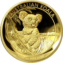 Zlatá mince Koala 1 Oz High Relief 2015 Proof