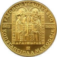 Zlatá minca 10000 Kč Konštantín a Metodej Príchod verozvestov 1oz 2013 Štandard